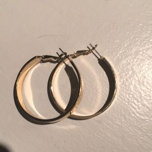 Gold hoops from express